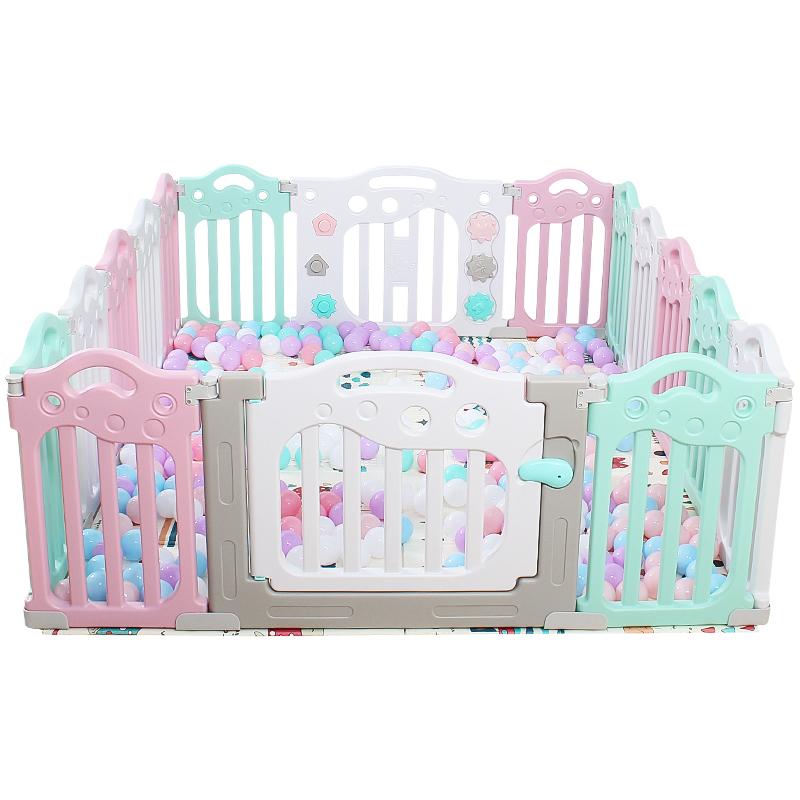 儿童护栏乐园围栏室内爬爬垫家用宝宝婴儿爬行垫玩具安全栅栏防护