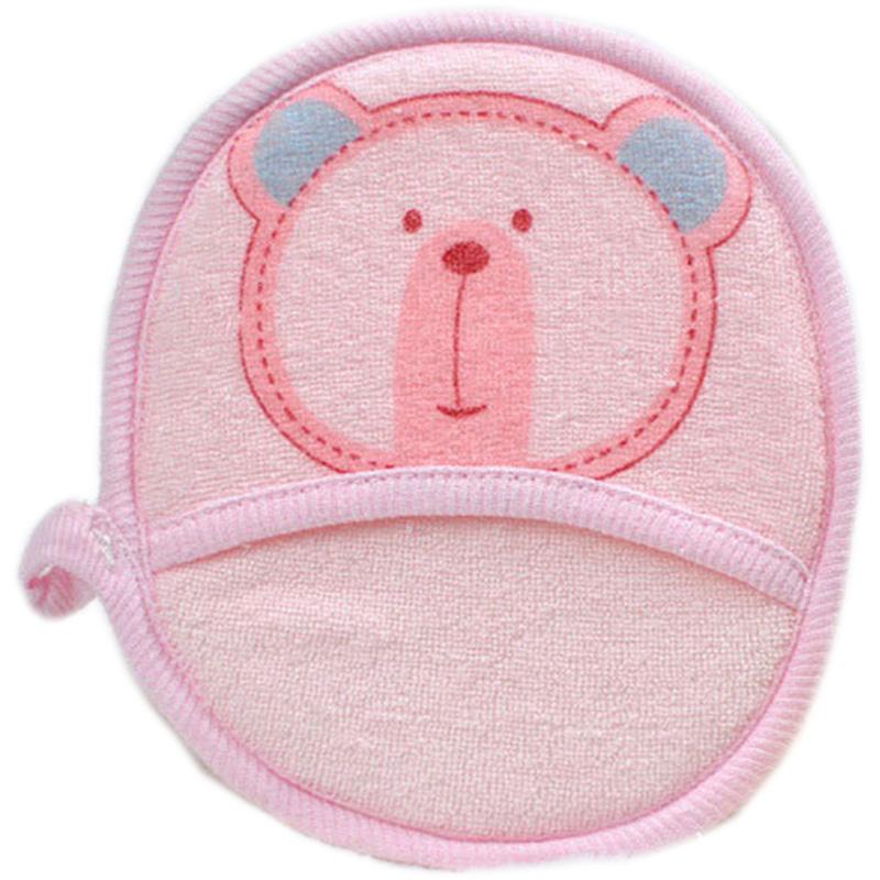 婴儿沐浴擦 宝宝毛巾料洗澡擦 带手套儿童去角质新生儿搓澡巾