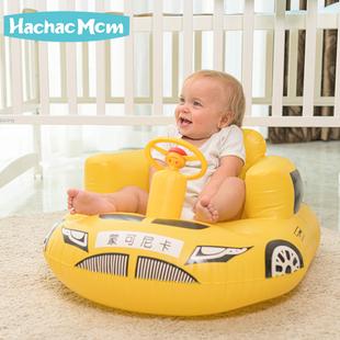宝宝学座椅 儿童充气小沙发婴儿音乐学坐椅便携式餐椅浴凳可折叠