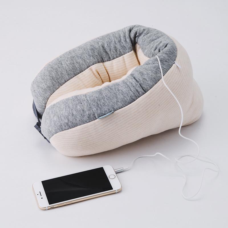 爱新潮|蜗牛睡眠3D音乐颈枕 护颈枕 商务旅行靠枕 新年情人节礼物