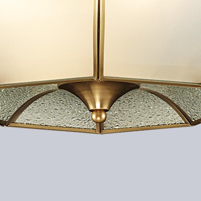欧式复古客厅铜灯卧室灯具别墅玄关阳台过道铜灯 美式全铜吸顶灯
