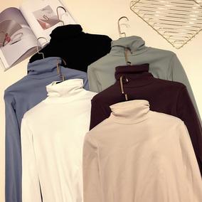 秋冬装新款打底衫纯色高领T恤女chic2018韩范百搭紧身基础款上衣