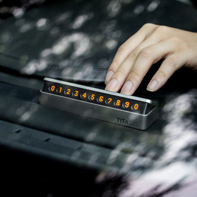 临时停车牌汽车号码卡通复仇者挪车电话牌联系卡数字号码贴带夜光