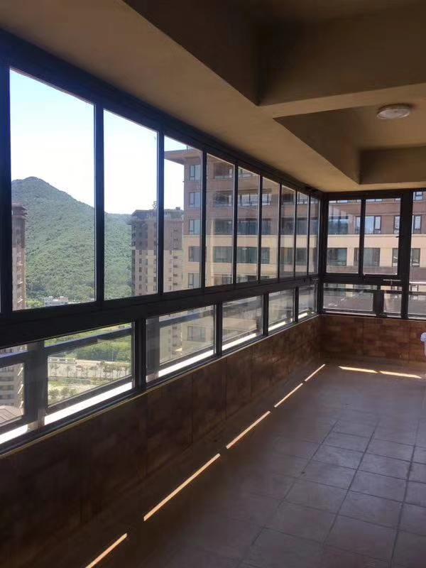 全开有框折叠窗全景开放式阳台隐形落地窗贵阳中空钢化玻璃封阳台