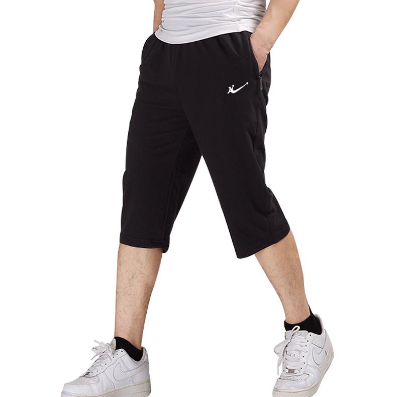 七分裤男夏季薄款纯棉运动短裤宽松中裤加肥加大休闲卫裤7分马裤