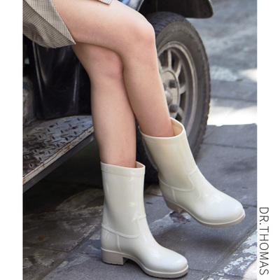 雨鞋女韩国可爱夏季时尚中筒水靴休闲套鞋防滑水鞋胶鞋成人雨靴