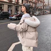2018新款棉衣女潮中长款冬装女士ins面包服冬季羽绒棉服外套棉袄