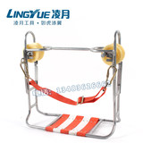 Construction hook repair slide chair steel winch fiber optic cable wiring high-altitude carriage skateboard chair sling brake