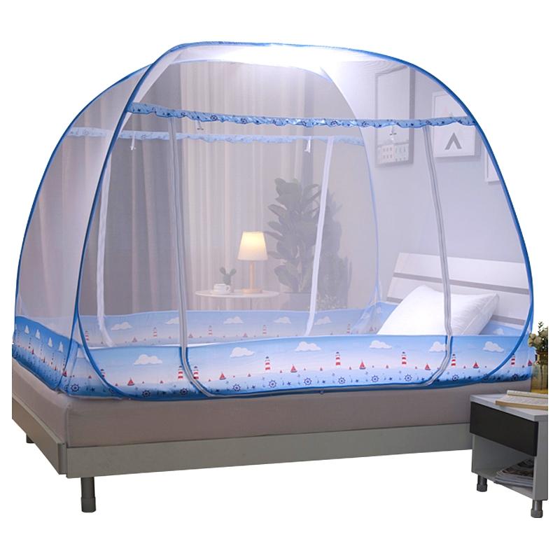 蒙古包蚊帐免安装可折叠1.2米1.5M1.8m2米床双人家用蚊帐学生宿舍