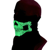 Outdoor cycling sunscreen turban fishing scarf neck cover summer skeleton night light mask Call of Duty call half-face scarf