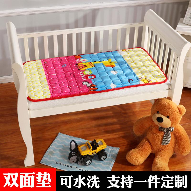 垫被儿童婴儿床床垫法兰绒褥子水洗
