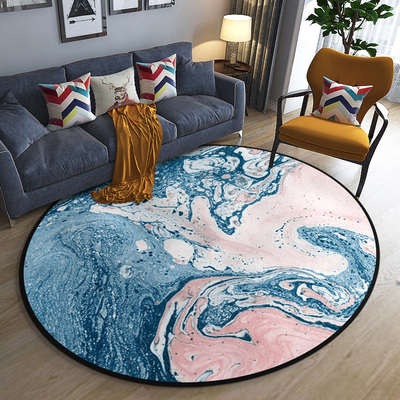琉璃纹圆形地毯客厅简约现代北欧卧室房间吊篮圆毯家用电脑椅地垫