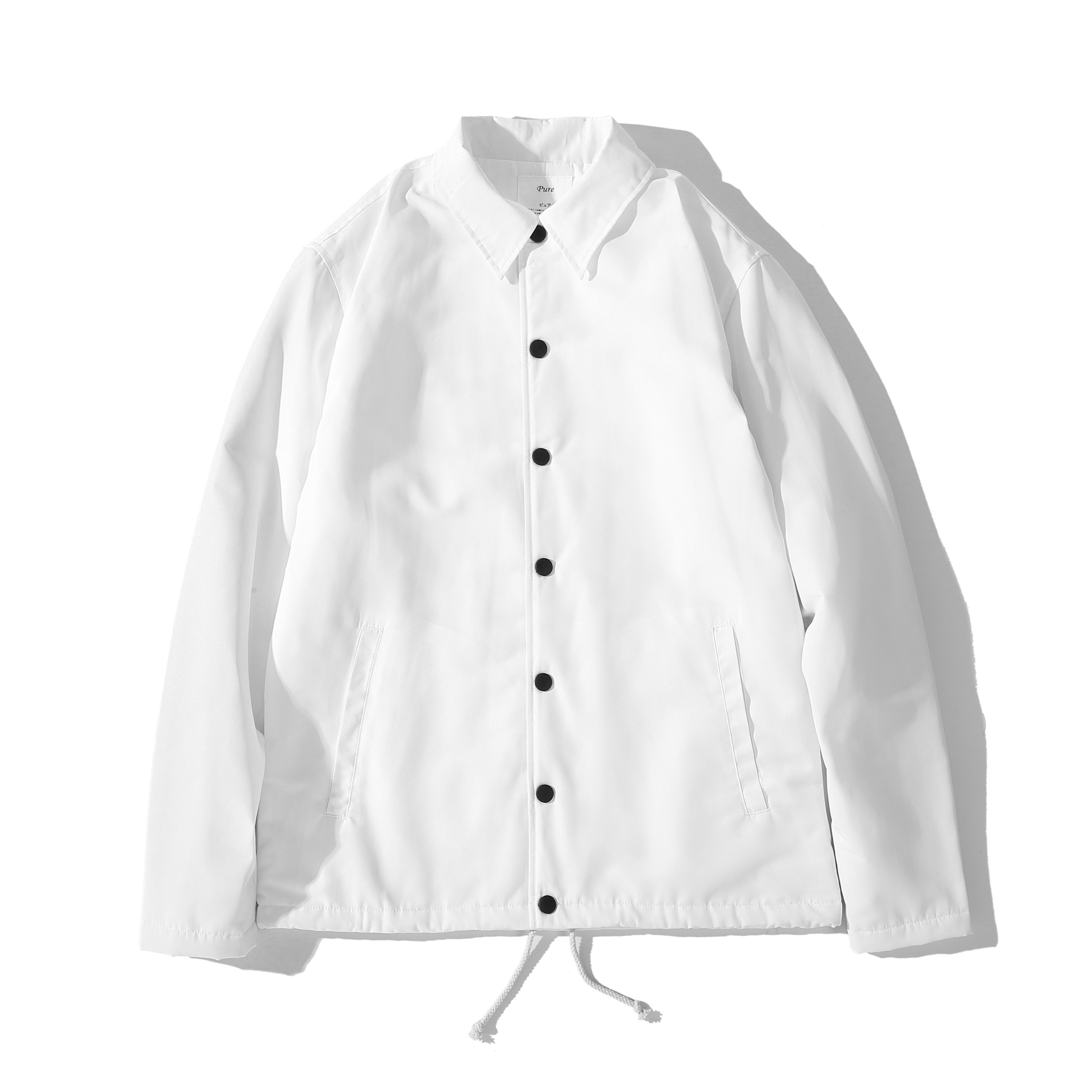 PureBrand 日本进口面料 羊羔绒教练夹克 高级防水抗风 黑白