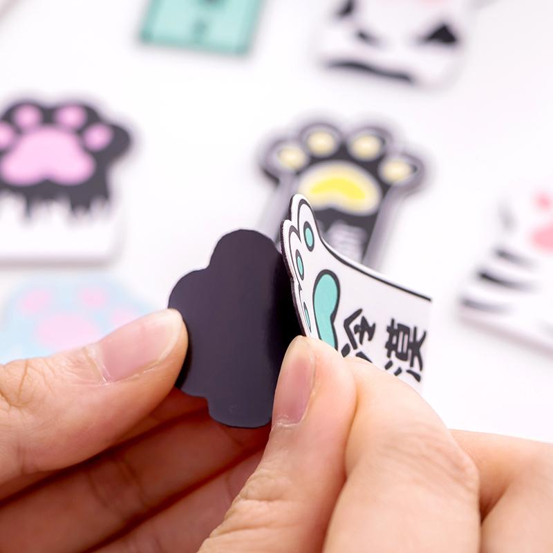 可爱磁性书签 创意个性学生用小学生卡通文具 小清新磁铁书签纸