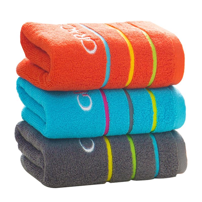2条洁丽雅纯棉毛巾 加厚家用全棉情侣毛巾吸水 成人洗脸巾面巾