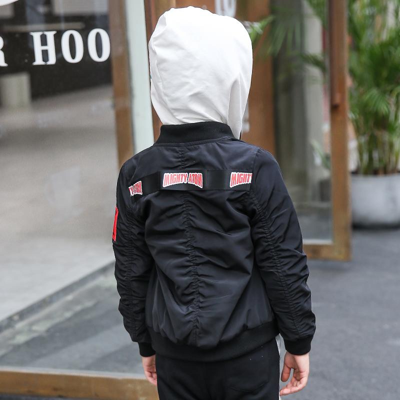 童装男童2018秋季新款儿童外套中大童宽松休闲棒球服短款夹克潮