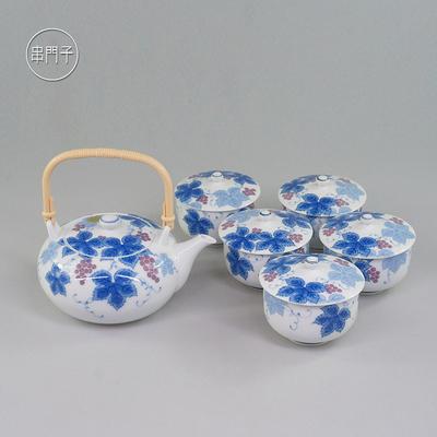 现货日本有田烧陶圣窑陶瓷茶具套装茶具提梁茶壶盖碗茶杯串门子
