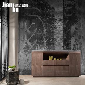 天然大理石餐边柜橱柜现代中式餐厅柜厨房多用柜子碗柜特价家私
