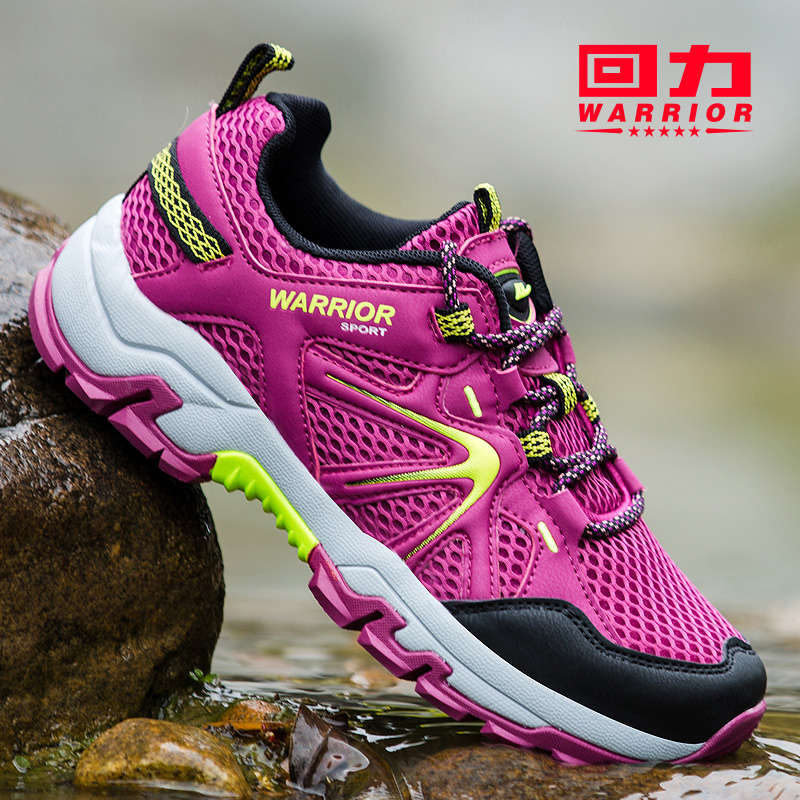 回力女鞋2019新款登山鞋女冬季防滑网鞋镂空透气网面女士运动鞋