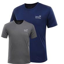 速干衣男运动短袖圆领跑步衣大码宽松户外休闲T恤透气排汗