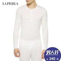 LA PERLA男士睡衣上装ELEGANCE系列时尚系扣品质男士长袖T恤上衣