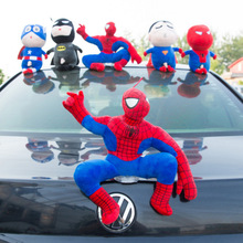 Roof decoration doll, Spiderman, exterior cute car, doll, tail ornament, exterior ornament, auto accessories.