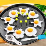 十件套不锈钢煎蛋器模型 煎蛋模具 创意煎蛋圈煎鸡蛋模型磨具