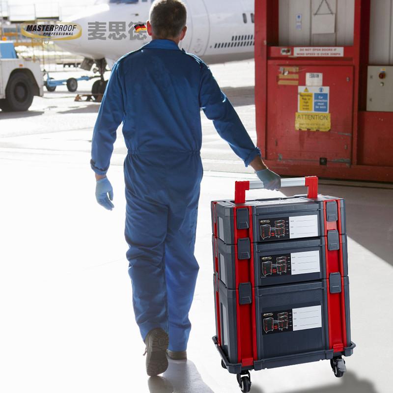 组合式工具箱多功能德国大号多层手提式家用安装维修五金工具收纳