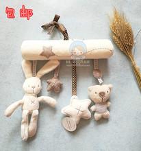 限时包邮婴儿推车毛绒兔子挂件车挂床挂安全座椅毛绒音乐摇铃玩具
