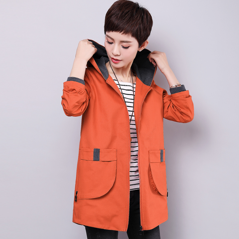 Spring and autumn new 40-year-old 50 middle-aged women's cotton jacket loose casual versatile mother