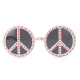 Rainbow-colored Peace and Anti-war Symbols Party Bizarre Anti-war Glasses Party Party Bar Party Decoration