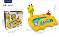 Intex children's ball pool game house inflatable giraffe castle jumping leap inflatable toy to send air pump