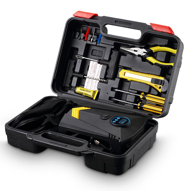 车载充气泵便携式小轿车多功能汽车轮胎电动加气泵12V车用打气泵