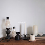 Scenery Notes Korea Home Interior B&B Decoration Vintage Black Iron Handheld Candlestick Pendulum Photography Props