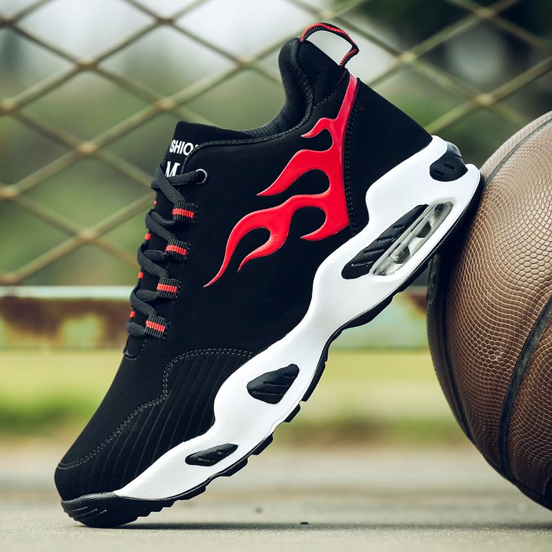 青少年鞋子男球鞋夏季高帮篮球鞋男初中学生运动跑步男鞋潮鞋蓝球