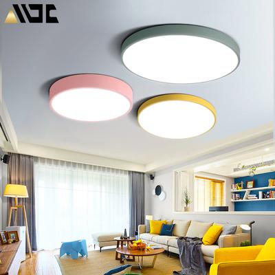 现代简约北欧灯具LED吸顶灯客厅卧室书房圆形马卡龙创意儿童房灯好不好