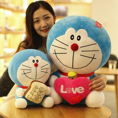 毛绒玩具机器猫公仔抱枕哆啦A梦叮当猫蓝胖子娃娃玩偶礼物女生萌