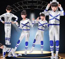 舞蹈服女童小女孩儿童节儿童表演服装时装秀套装男童亮片走秀男孩