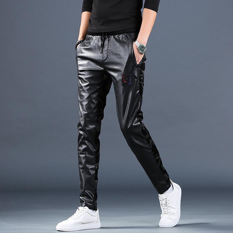 Кожаные брюки Артикул 599809991422