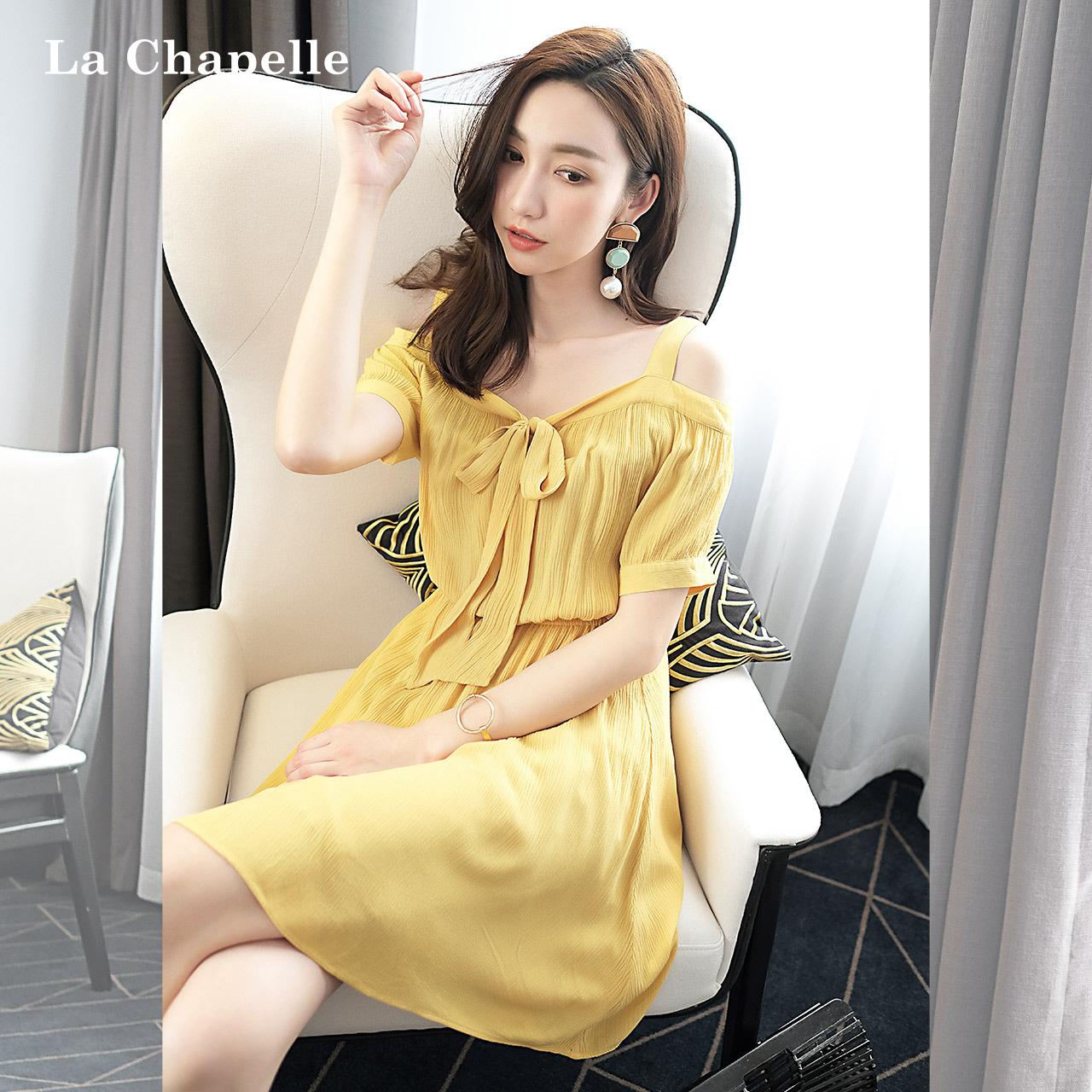 夏季纯色裙子