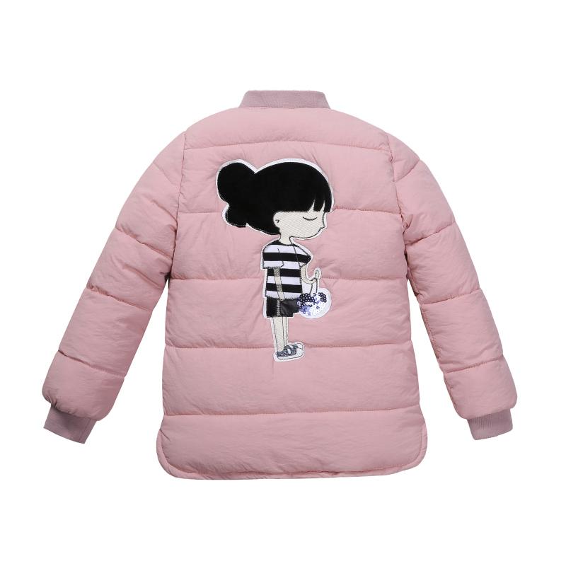 2019新款童装女童加厚棉衣外套儿童棉袄棉内胆中大童冬装棉服