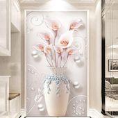 北欧3d立体壁画竖版玄关过道走廊背景墙纸风景壁纸8d新中式家和