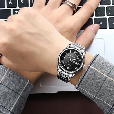 卡诗顿新款全自动机械表男表休闲商务精钢带防水夜光手表男士腕表
