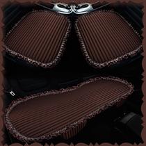 汽车座垫棉麻四季坐垫三件套无靠背小三件单独主驾垫片透气方垫