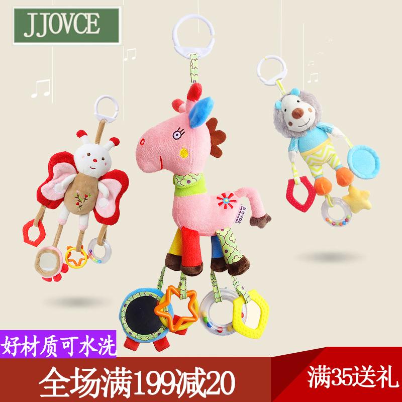 婴儿手推车挂件饰男女宝宝毛绒布艺摇铃铛玩具床挂铃0-3-6-12个月