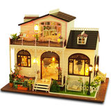 Diy cottage Bonis town creative handmade house model villa assembled toy birthday gift