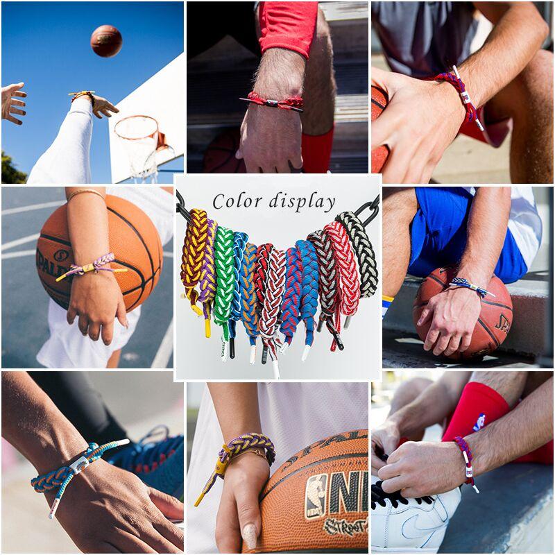 篮球手环潮牌篮球手链男女编织鞋带手绳情侣学生运动手环腕带网红