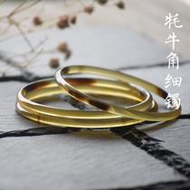 千足拉丝复古足银镯子开口实心情侣手工银镯女简约纯银手镯男999