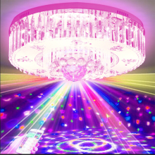 圆形客厅水晶灯mp3l蓝牙音乐灯声控音响七彩卧室灯led遥控吸顶灯