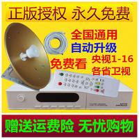 Household Ship Satellite Satellite Dish Antenna Household TV Set Top Box Remote Control Receive Gyro Small Pot Cover Pass